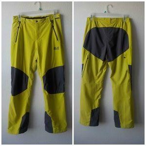 Jack Wolfskin Pants Large Green Gray FlexShield